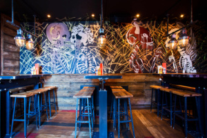 The Boozy Cow restaurant interior