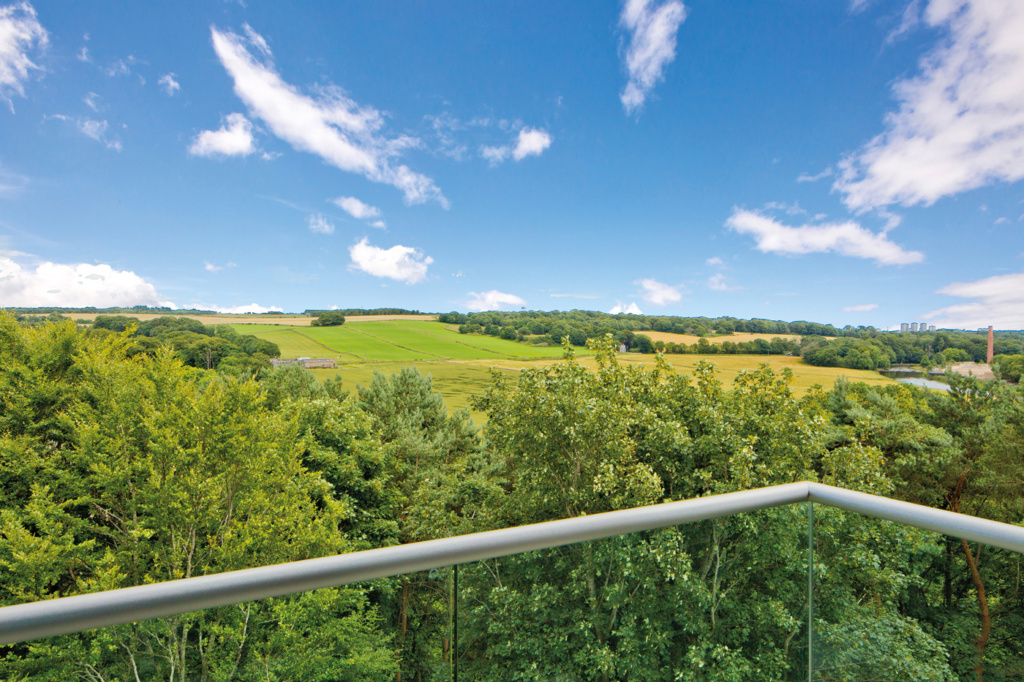 Views over Aberdeenshire from Forbes Place Balcony